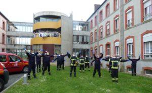 Mobilisation des pompiers à Merdrignac.