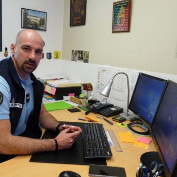 Franck Sichère est en charge des violences intrafamiliales à la communauté de brigades de gandarmerie de Merdrignac.