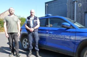 La COB de Merdrignac est dotée de trois référents violences intrafamiliales : Patrice Lucas (en civil), Franck Sichère et Adeline Nong (absente).