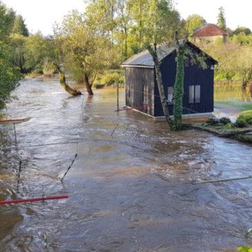 Pont Querra sous l'eau